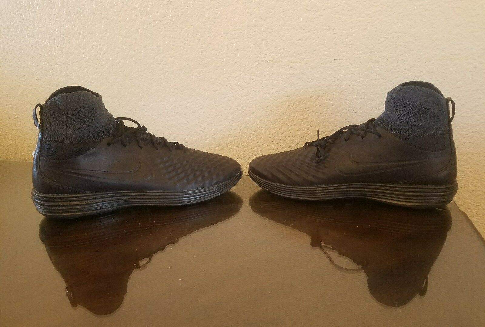 New Sz 11.5 Mens Nike Lunar Magista II FK Anthracite Black 852614-001 NK Flyknit Anthracite FK 1b5a2c