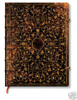 Paperblanks Writing Journal Lined Jean Grolier Brown Gold Ultra Size 7x9