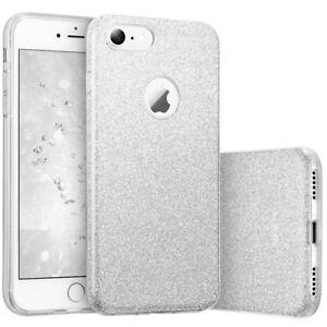 COVER-Custodia-Glitter-Morbida-Silicone-GEL-per-Apple-iPhone-6-e-6S-PLUS-Argento