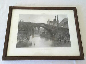 Gravure-Pont-de-Betharram-Par-Eugene-CICERI-1813-1890-XIXeme