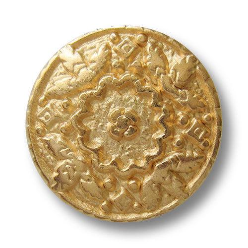 0495mg 5 immagine bellissimi Matt goldfb Bottoni in Metallo con argilla fiori viticci /&