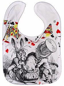 Alice-Wonderland-Bib-034-Mad-Hatter-dunking-Dormouse-034-Teaparty-Gift