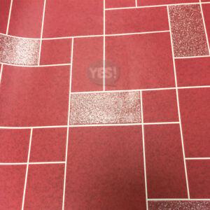 Dettagli su WINCHESTER Piastrella Carta da parati cucina bagno lavabile in  vinile GLITTER ROSSO Holden- mostra il titolo originale
