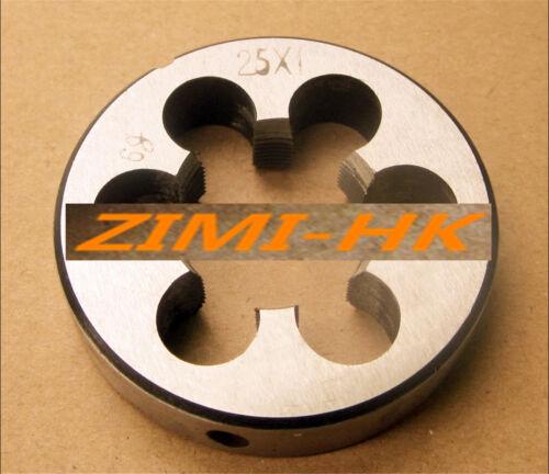 1pcs 25mm x 1 Metric Right hand Die M25 x 1.0mm Pitch (The high quality )
