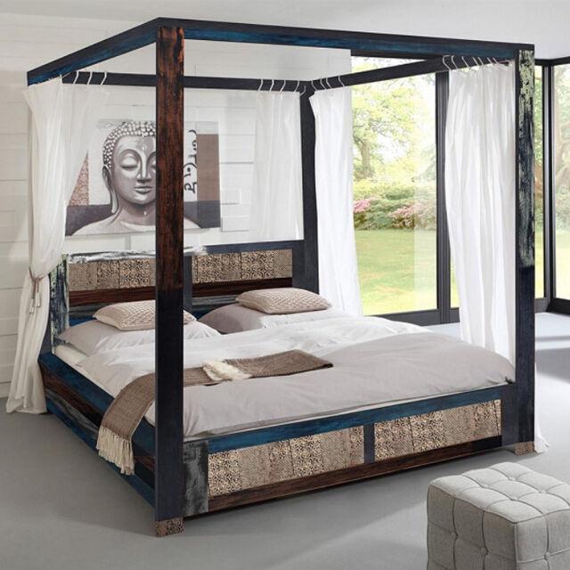 Gut bekannt Himmelbett 180x200 Goa Von Wolf Möbel Schlafzimmer Vintage Look In HV49