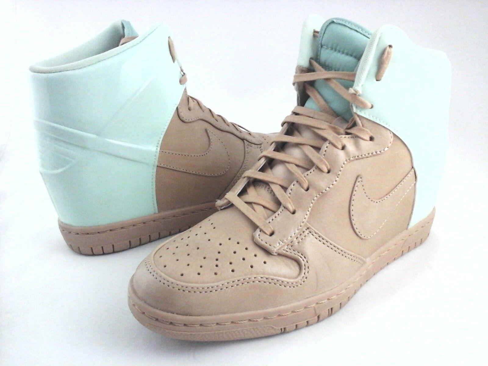 Zapatillas Nike Sky Hi Aqua Verde/Tan Cuña Mujer Dunk Zapatos Mujer Cuña 611908 US 9 7e29ff