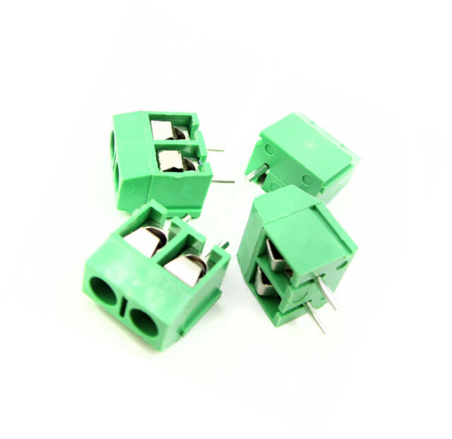 50PCS Green KF301-2P 2 Pin Plug-in Screw Terminal Block Connector 5.08mm