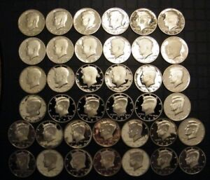 Clad 2005 2006 2007 2008 2009 Proof Kennedy Half Dollars DCAM Combined Shipping