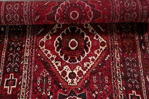 Vinge-Geometric-Tribal-9-ft-Runner-Abadeh-Ghashghaei-Rug-Hand-Knotted-Wool-3-039-x9-039