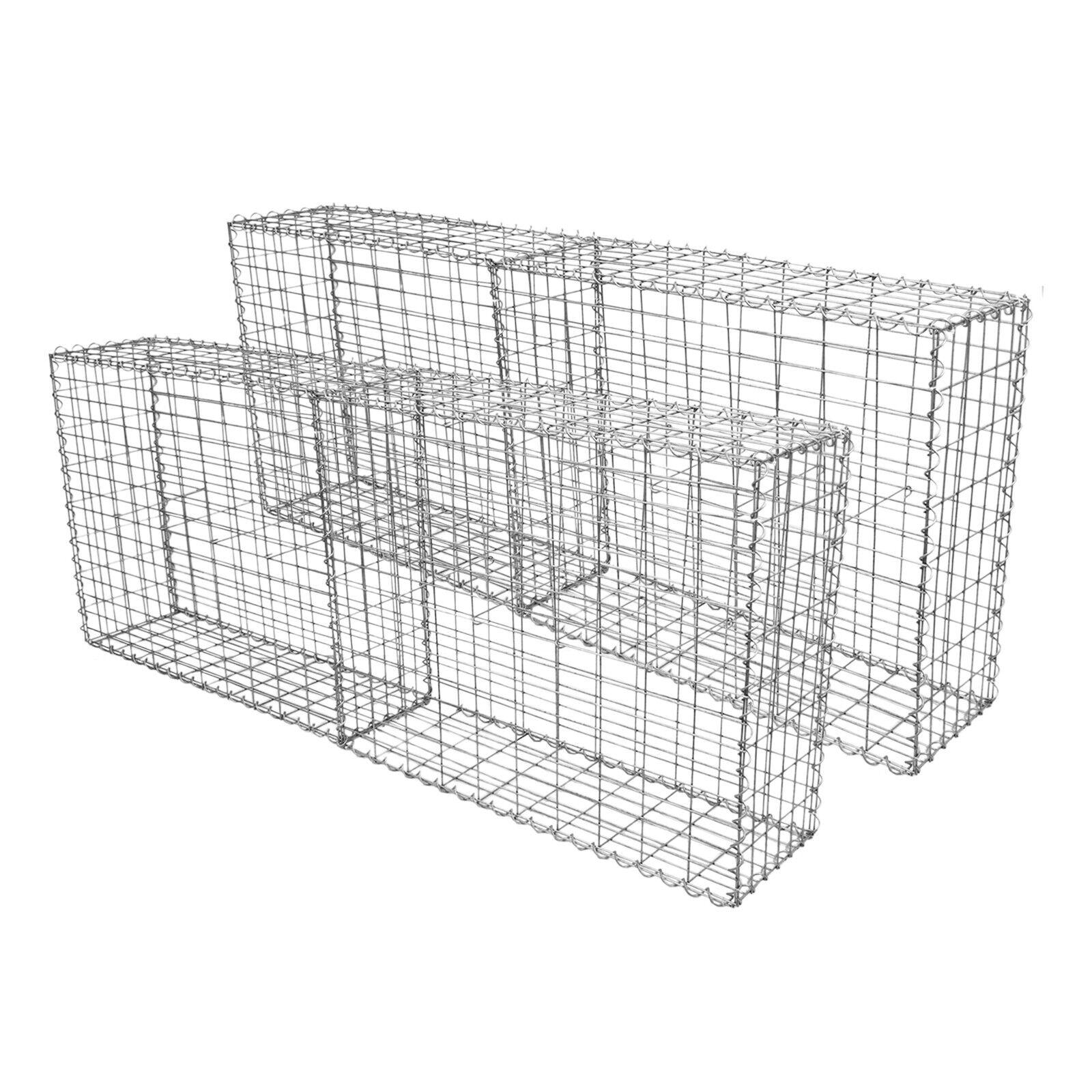 4 Cestas de Acero Galvanizado de Exterior Jaulas para Decoración 100 x 80 x 30cm