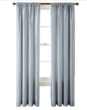 NEW Royal Velvet Encore Rod-Pocket/Back Tab Curtain Panel 50 x 95 - Steel