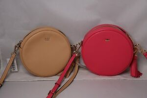 5317514ec355 Image is loading MICHAEL-Michael-Kors-Medium-Circle-Canteen-Crossbody-Bag-