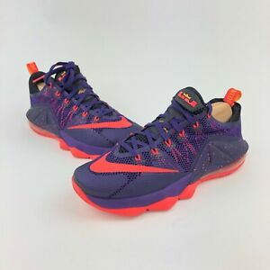 new styles ff766 eb325 Details about Nike Lebron 12 Low Raptors Court Purple Basketball 724557-565  Mens 8.5