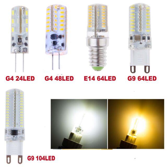 3W 4W 5W 7W G4 G9 E14 SMD 3014 LED Warm Cool White Lamp Bulbs Corn Light Lots