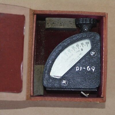 BLACK SHORE BRAND ORIGINAL SHORE DUROMETER Type D Hardness Tester