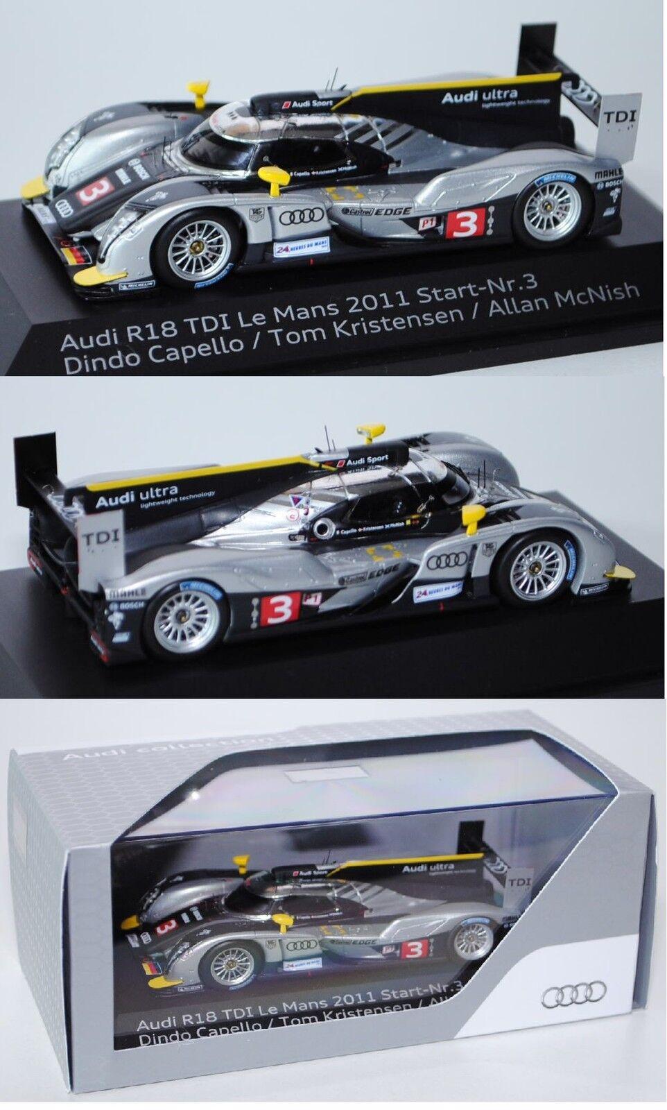 SPARK 1100143 Audi Audi Audi r18 TDI Le Femmes 2011, 1:43, publicitaires boîte 6da3a9