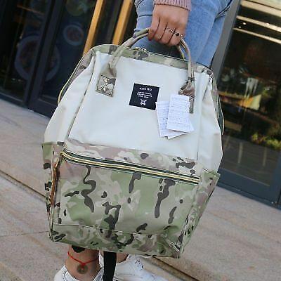 Japan Anello Original Backpack Rucksack Unisex Canvas School Bag Bookbag Handbag
