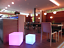 LED Design Cube 30cm Leuchtwürfel Hocker Tisch Sitzwürfel Farbwechsel Fernbedie