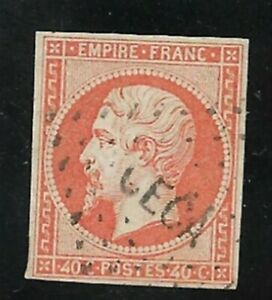 C0243-France-Napoleon-N-16-obl-CECA-Corp-Expeditionnaire-Chine-RARE-TTB