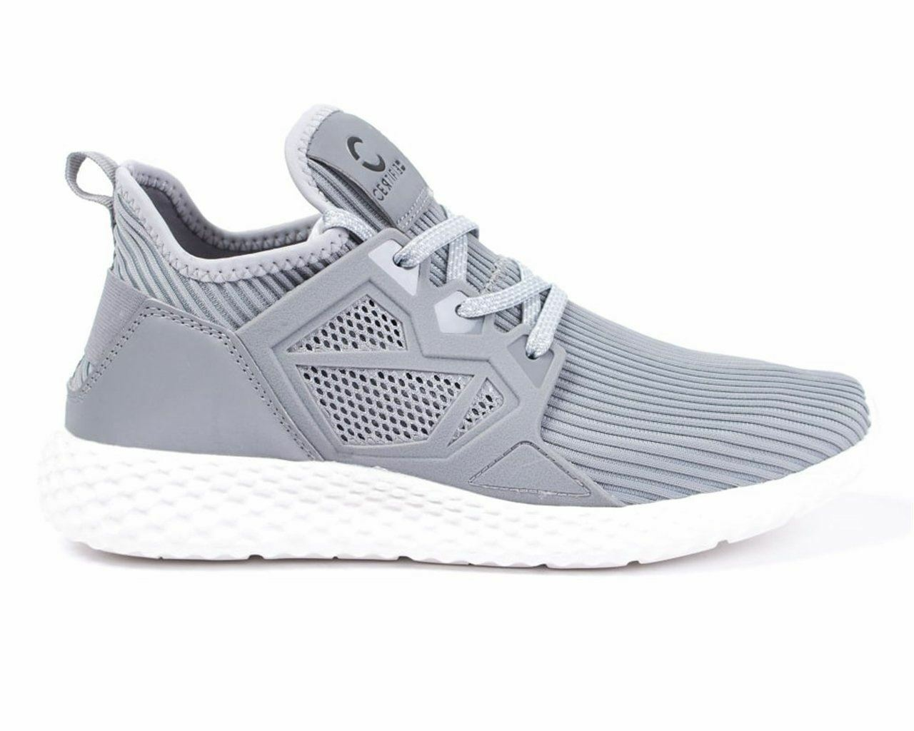 Certified Gris London CT1000 Mesh Trainers Gris Certified Blanco 1d7524