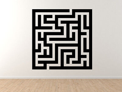 Car Tablet Vinyl Decal Rectanglular Puzzle Labyrinth Path Finding Square Maze