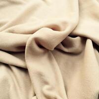 BEIGE Polar fleece soft fabric material antipill 150cm wide sold by metre