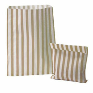 100-STRIPED-CANDY-PAPER-BAGS-FOR-SWEET-FAVOUR-BUFFET-WEDDING-CAKE-GIFT-SHOP