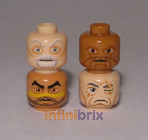 Ki-Adi Mundi 4x Lego Male Star Wars Jedi Alien Heads Even Piell NEW lot207