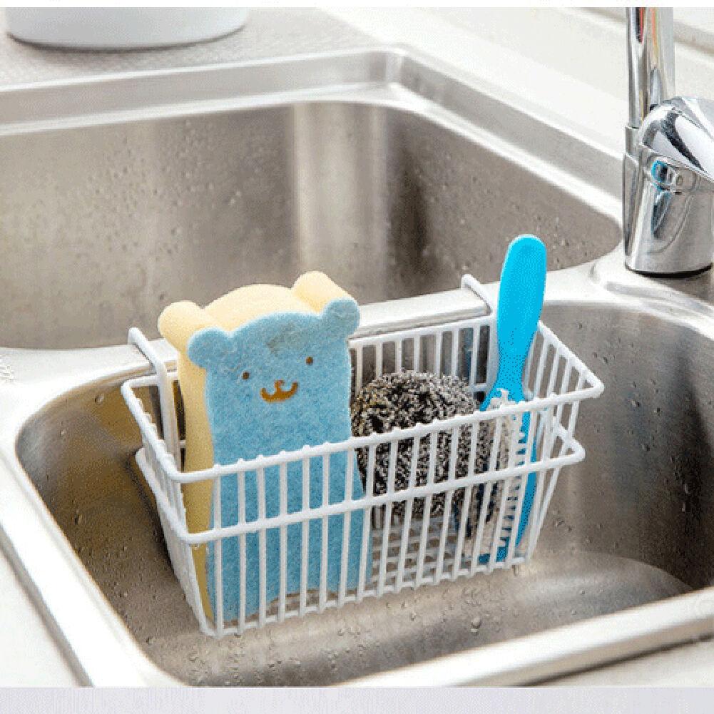 Pop Kitchen Sponge Holder Sink Caddy Brush Soap Dishwashing Liquid ...