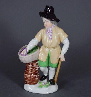 Augarten Augarten Wien Aalverkäufer Verkäufer Fisch Figur Figure Figurine Fischverkäufer Clear-Cut-Textur Antiquitäten & Kunst