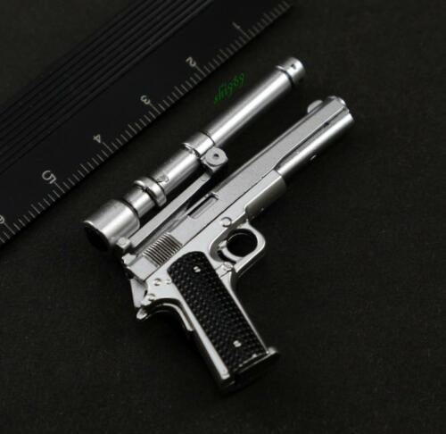 1//6 Hot Toys MMS136 Terminator T800 Battle Damaged Arnold Pistol AMT Hardballer