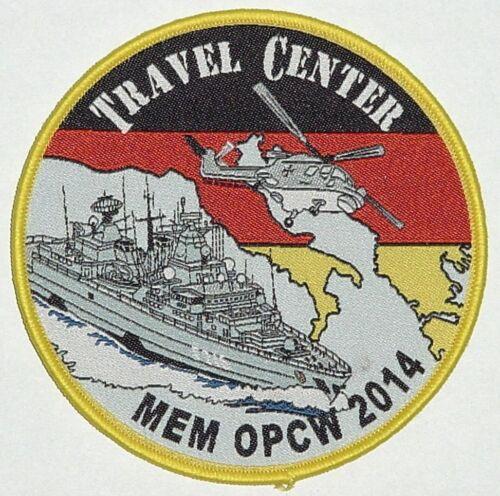 MEM OPCW 2014 ....A5170 Marine Aufnäher Patch Fregatte Schleswig-Holstein F216