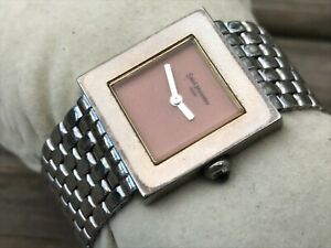 Saint-Monnier-Paris-Ladies-Watch-Silver-Tone-Bracelet-Analog-Women-Vintage-Wrist