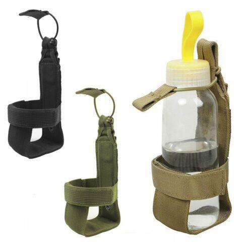 Outdoor Hiking Camping Molle Water Bottle Holder Belt Carrier Pouch Nylon Bag HI