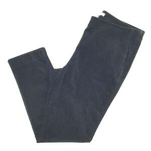 J-Jill-Velvet-Black-Pants-Women-Straight-Leg-High-Rise-Stretch-Side-Zip-Size-12