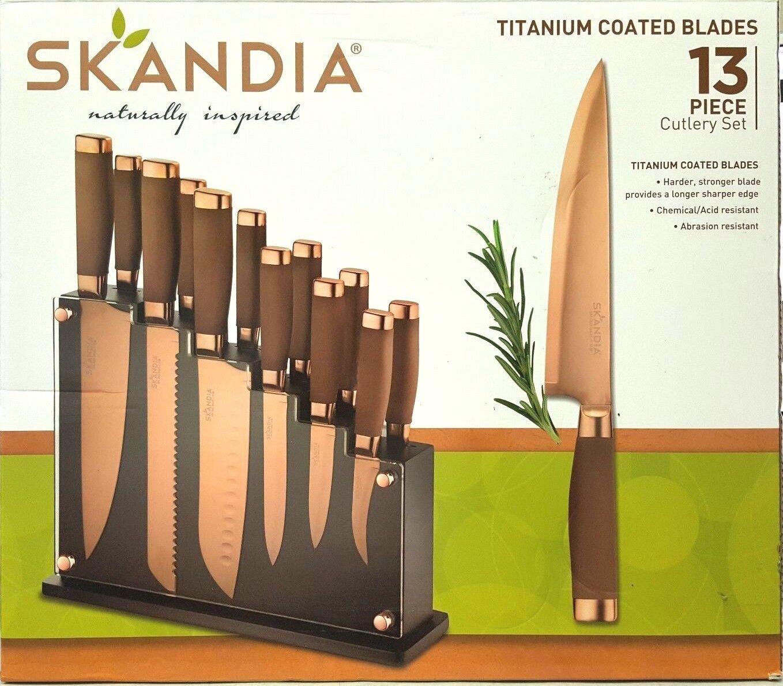 - New no box-Skandia Forte 13 pièces Bloc à Couteaux Set