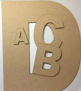 En Bois Suspendu Mdf Laser Cut Alphabet Arial Lettres & Chiffres, 3 Mm D'épaisseur Craft-afficher Le Titre D'origine