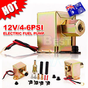 Electric-Fuel-Pump-12-volt-Solid-State-4-to-6psi-130-LPH-Petrol-Facet-Universal