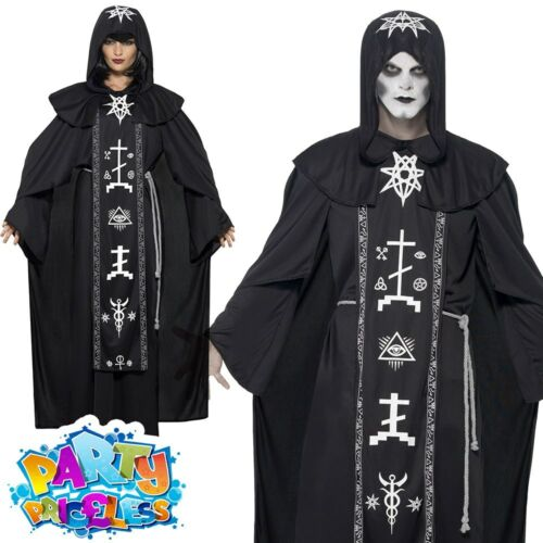 Adult Black Magic Voodoo Costume Halloween Mens Womens Fancy Dress Outfit
