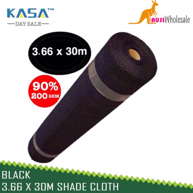 90% BLACK 3.66 x 30m Shade Cloth Shade cloth Black Scaffold Fencing Mesh
