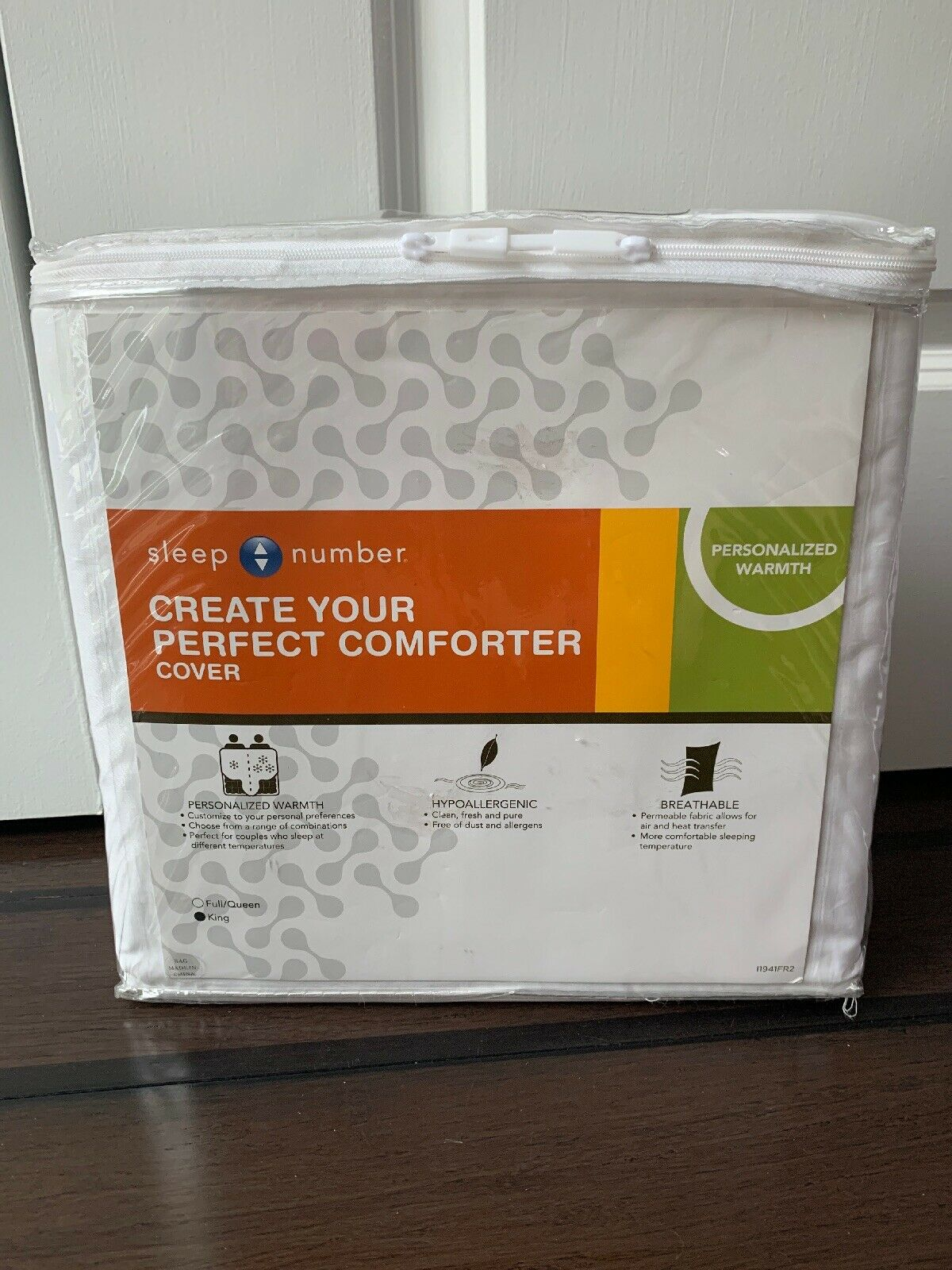 NEW Sleep Number Create Your Perfect Comforter Duvet Startseite- König  421566. Sealed