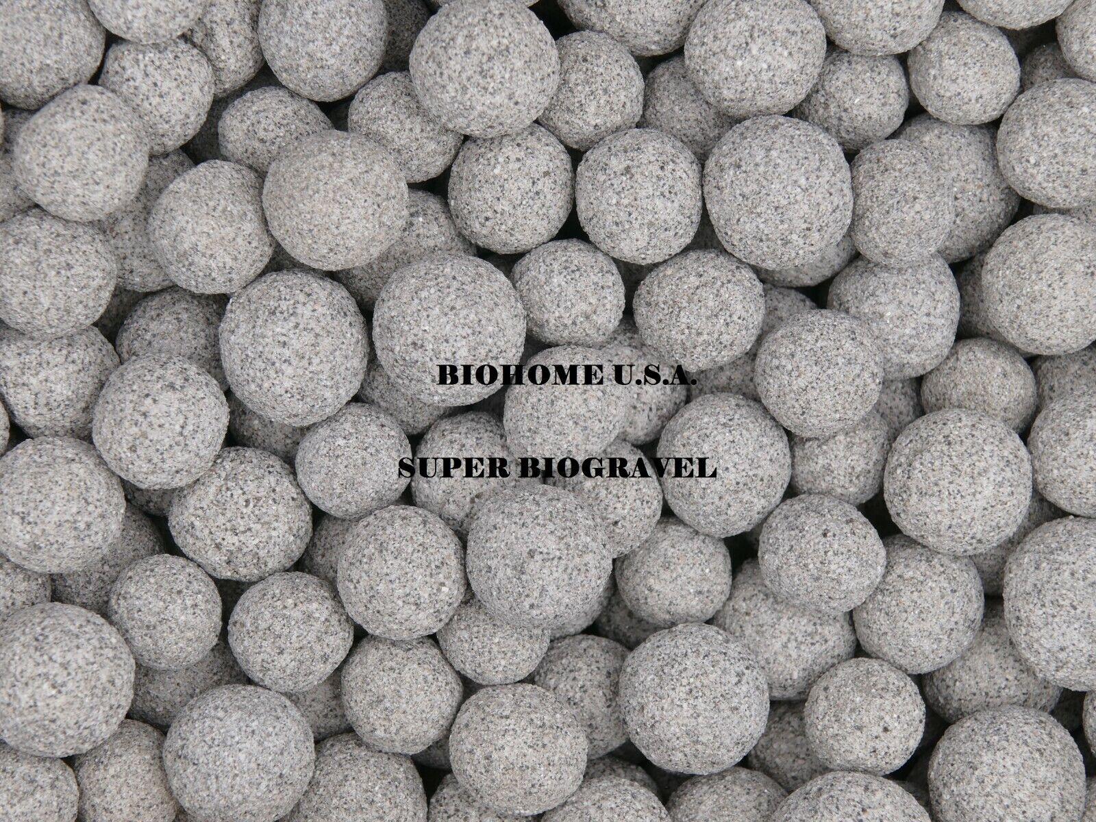10 POUND BIOHOME SUPER BIOGRAVEL FILTER MEDIA ~LG GREY SPHERE~$13.99PP US SELLR