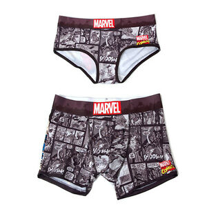 cceebbac2bcd Marvel Underpants Couple Brief Boxer Iron Man Black Women One Size ...