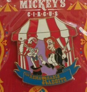 Disney-Mickey-039-s-CIRCUS-Program-Acts-JESSICA-amp-ROGER-Rabbit-Pin-LE-500-WDW-WFRR