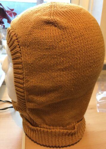 Men/'s Knitted Balaclava In Mustard 4ply Yarn Hand Made