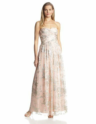 501fe92d194ded Hailey by Adrianna Papell Women s Strapless Glitter Gown   8