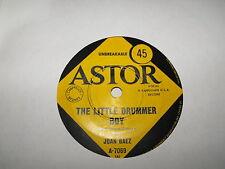 "Joan Baez The Little Drummer Boy & Cantique De Noel 45 single Astor Label ""RARE"""