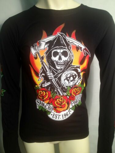 AUTHENTIC SONS OF ANARCHY FIRE ROSES SOA JUNIORS GIRLS T TEE SHIRT S M L XL XXL