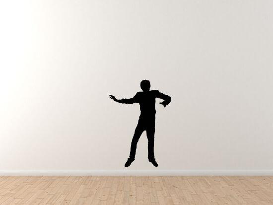 Contour Silhouette- Dancing Man Guy Version 3 Shadow - Vinyl Wall Decal