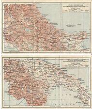 Carta geografica antica ITALIA MERIDIONALE TCI 1926 Old antique map